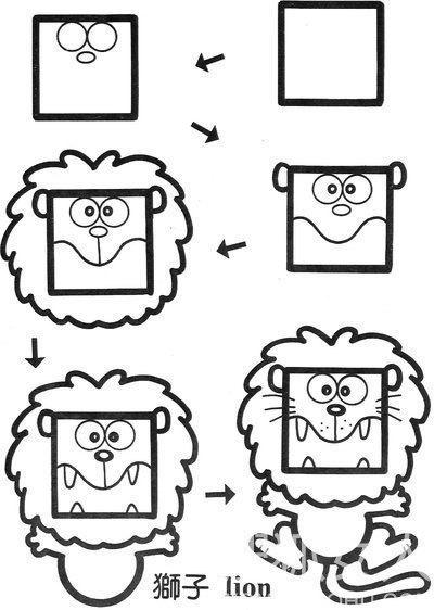 好可爱 快点来学习正方形的简笔画