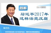 图解:习近平2017年这样治党反腐