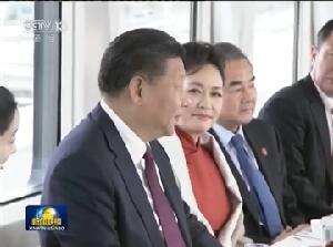 [视频]习近平同瑞士联邦主席洛伊特哈德茶叙