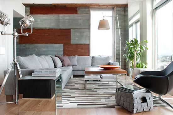 原木粗犷工业风 前卫复式公寓设计