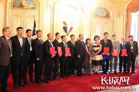 """2月14日,""""京畿福地,乐享河北"""" 旅游推介会在巴黎第八区政府成功举行。"""