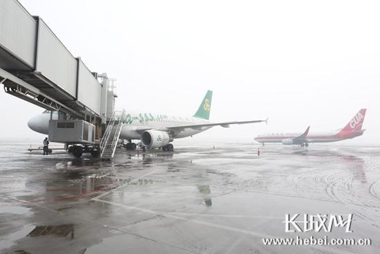 华北地域发挥阐明大领域降雪 石家庄机场力保航班运