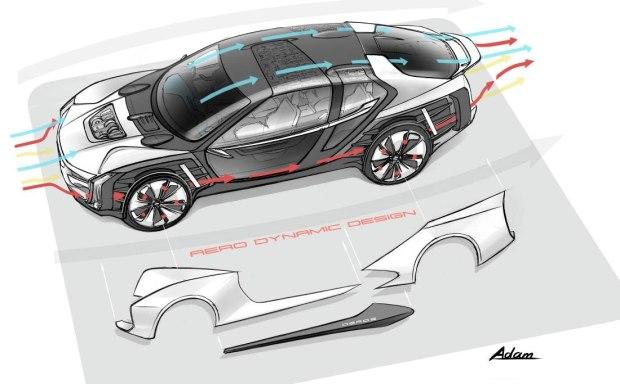另辟蹊径 观致Model K-EV概念车预告图