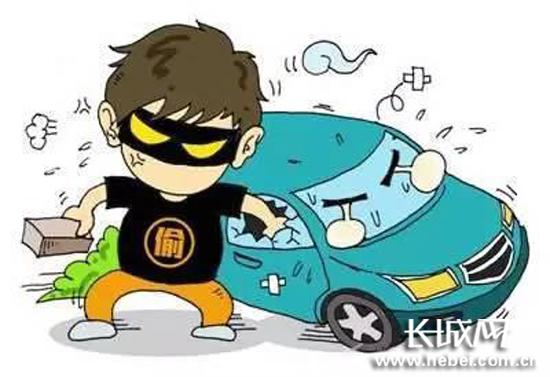 白沟一男子深夜砸车窗 盗窃财物被刑拘