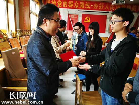石家庄市第三十八中学举行青年教师拜师会