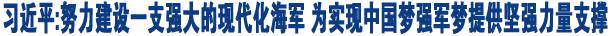 习近平在视察海军机关时强调<br>努力建设一支强大的现代化海军<br>为实现中国梦强军梦提供坚强力量支撑
