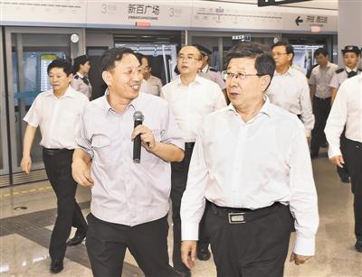 赵克志许勤等省领导试乘石家庄地铁