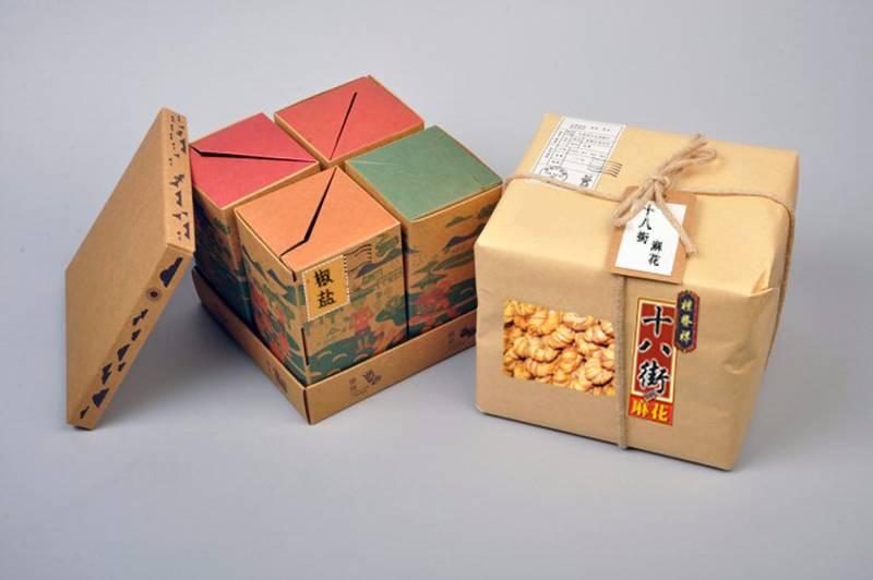 2017天津旅游商品大赛参赛作品(设计类)——天津特产十八街麻花包装盒图片