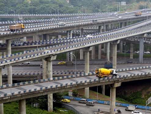 """重庆""""最复杂""""立交桥主体完工"""