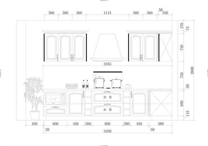 图纸标准尺寸图纸镜面橱柜图片