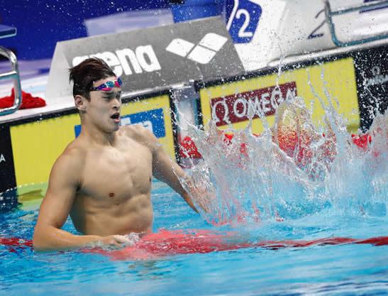 游泳世锦赛男子200米自由泳孙杨首次摘金