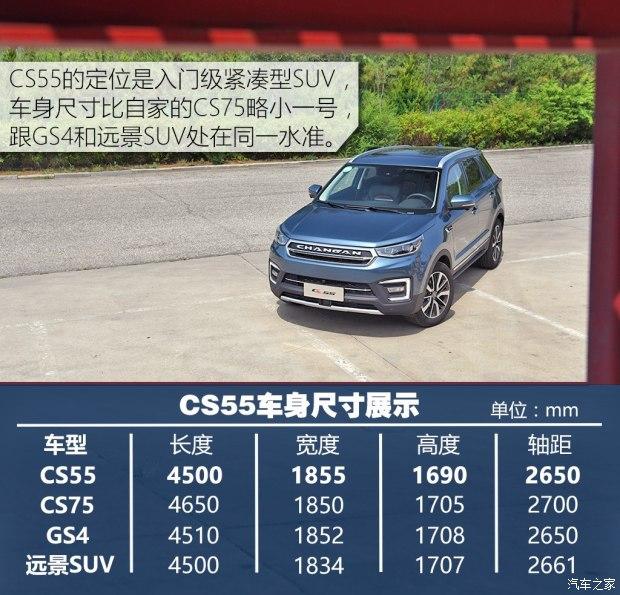 主要推荐中高配车型 长安CS55购车手册