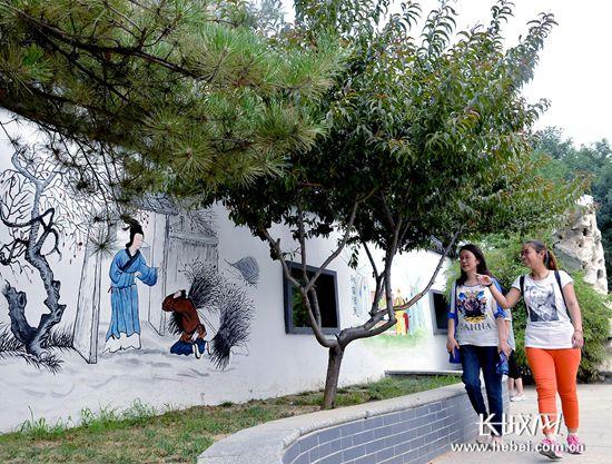石家庄桥西区 主题文化墙 传播正能量