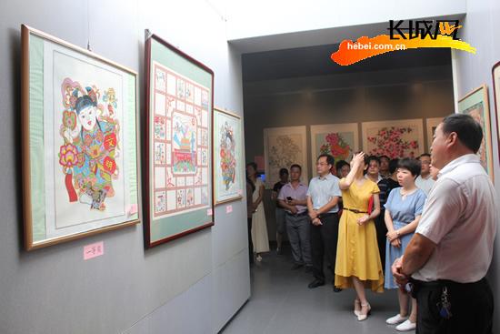 """迎""""十九大""""新年画作品展在武强县年画博物馆开展"""