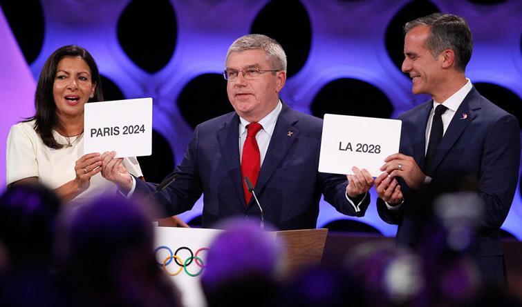 国际奥委会确认巴黎和洛杉矶分别为2024和2028年奥运会举