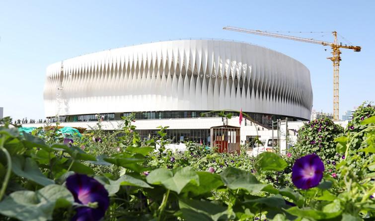 河北首个穹顶结构体育馆即将竣工