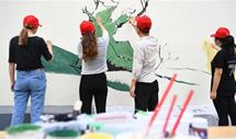 手绘彩墙倡环保