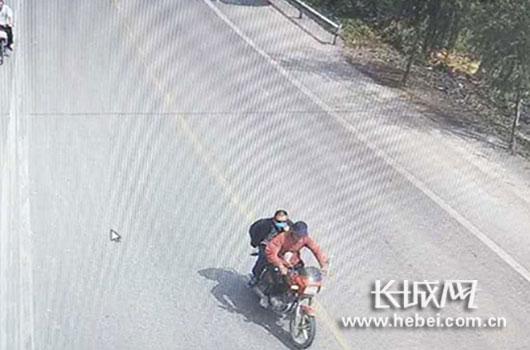 监控画面。图片由邯郸峰峰矿区公安分局提供