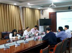 国信联合信用管理股份有限公司、上海沧健医疗投资管理有限公司领导来我县对接洽谈中医药健康产业园项目