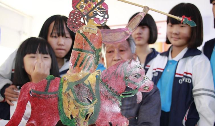 河北成安:皮影剧团进校园