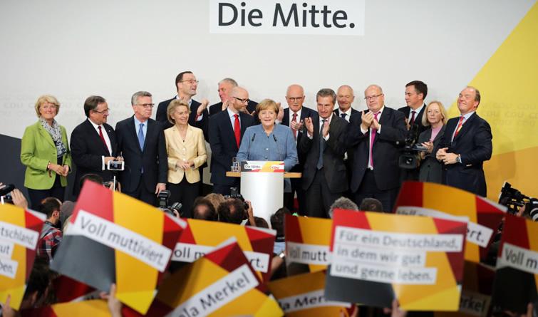 默克尔领导的联盟党获得德国联邦议院选举最多选票
