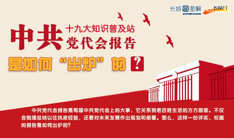 """【十九大知识普及站】中共党代会报告 是如何""""出炉""""的?"""