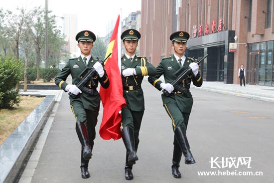 """长城新媒体集团举行""""升国旗、唱国歌""""仪式"""