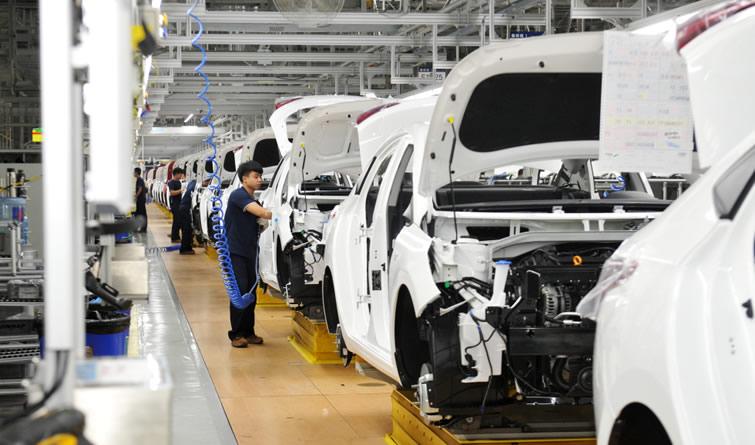 北京现代沧州工厂第10万台整车下线