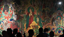 毗卢寺壁画复原临摹亮相