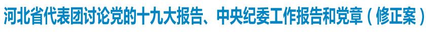 河北省代表团讨论党的十九大报告、中央纪委工作报告和党章(修正案)