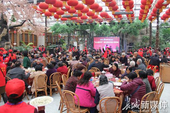 """沙河市:700多名老人共享孝道""""饺子宴"""""""