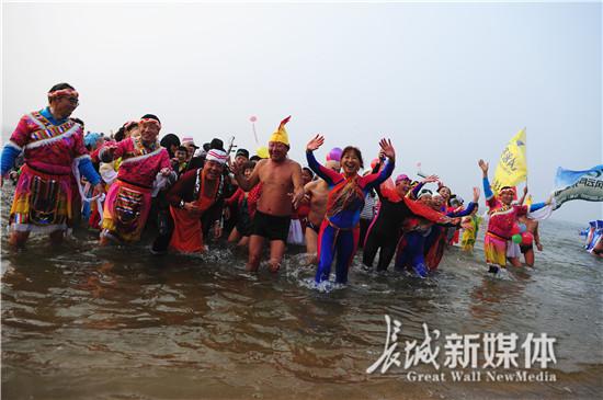 2017年中国北戴河第二届冬泳文化节开幕
