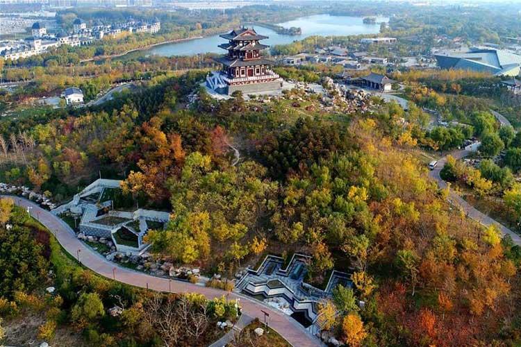 河北唐山:初冬南湖景色美