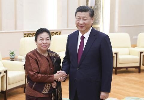习近平会见老挝人革党中央总书记特使