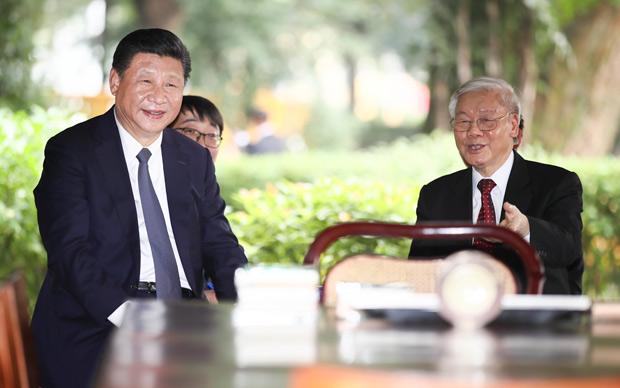 习近平再次会见越共中央总书记阮富仲
