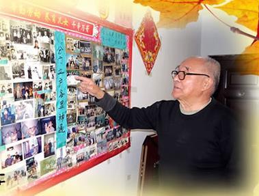 一面照片墙70年的温暖记忆