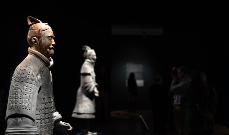 美国艺术博物馆举办兵马俑特展