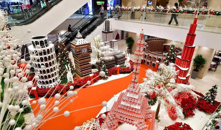 吉隆坡:饮料瓶砌成地标建筑