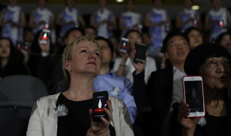 海外人士举行活动纪念南京大屠杀80周年暨死难者国家公祭日