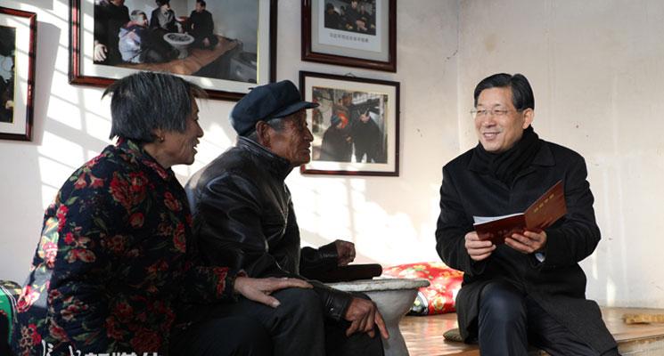 王东峰在阜平县调研检查