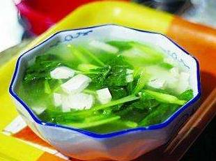 吃青菜要喝点菜汤