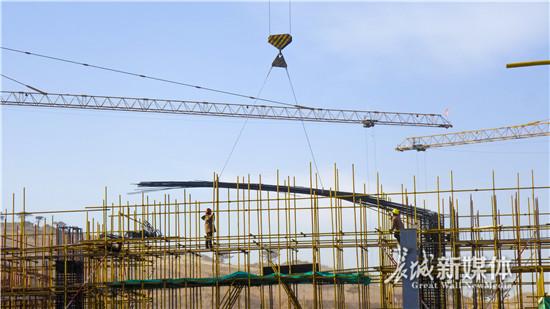 河北省第二届园林博览会主场馆混凝土主体结构建设完成