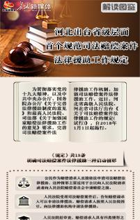 【解读图鉴】河北出台省级层面首个规范司法赔偿案件法律援助工作规定
