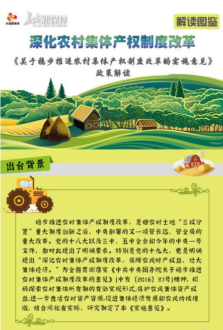 【解读图鉴】深化农村集体产权制度改革 关于《稳步推进农村集体产权制度改革的实施意见》的解读