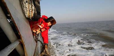 """你守着海 我护着你 渤海湾上石油""""摆渡人"""""""