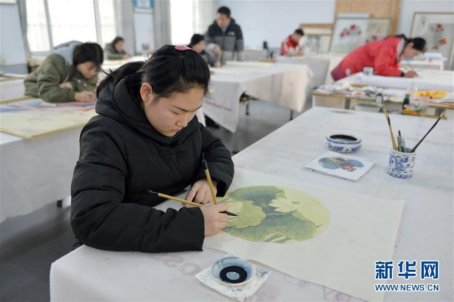 河北宁晋:工艺美术培训助残就业