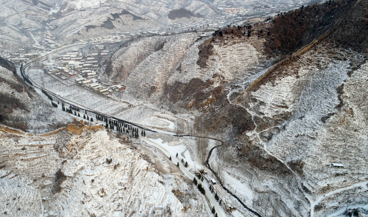 航拍美景 京津冀迎来降雪