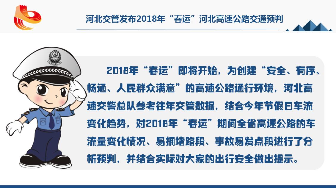 """河北交管发布2018年""""春运""""河北高速公路交通预判"""