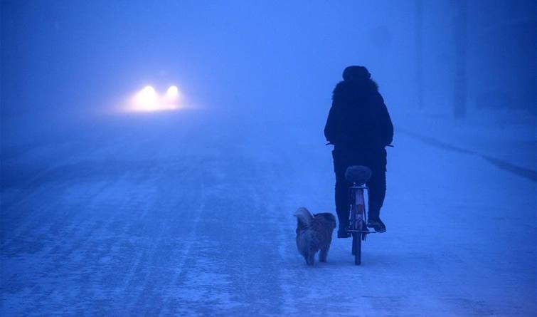 我国最北县城遭遇零下44摄氏度极寒天气