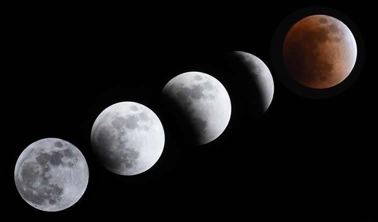 """天幕上演月全食美景 华夏共度""""红月亮之夜"""""""